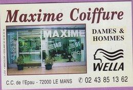 Calendrier °° 2000 - Coiffeur 72 Maxime - 5,5x8,5 - Calendari