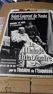 Affiche  Saint Laurent De Neste - Le Malade Imaginaire  Par Le Théatre De L'Esquisse - Posters