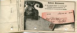 FACTURA DE LA UNION TELEFONICA AÑO 1946 BUENOS AIRES,  ARGENTINA. CON PUBLICIDAD PARA PAGAR POR CORREO - LILHU - Invoices & Commercial Documents
