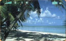 Northern Mariana Islands - NMI-MT-10, Mtc, Saipan Lagoon, Beache, Palm-trees, 10U, 1993, Used - Mariannes