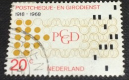 Netherlands 1968 50th Anniversary Post Office Bank 20c - Used - Used Stamps