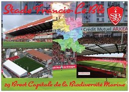 Stade De Football - Stade Francis Le Blé - BREST - Carte Géo Du Finistère - Capitale De La Biodiversité - Cpm - Vierge - - Soccer