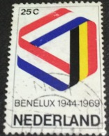 Netherlands 1969 25th Anniversary Of The Benelux 25c - Used - Used Stamps