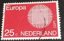 Netherlands 1970 Europa Stamps 25c - Used - Period 1949-1980 (Juliana)