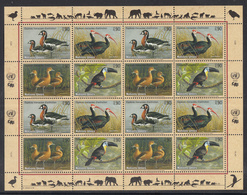 A 30 ) Free Shipping To //  UN UNO United Nations N.Y. Vienna Geneva Endangered Species MNH 3 Sheet 2003 - New York/Geneva/Vienna Joint Issues