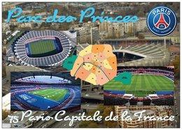 Stade De Football - Stade Parc Des Princes - PARIS - Carte Géo De Paris - Capitale De La France - Cpm - Vierge - - Football