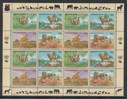 A 30 ) Free Shipping To //  UN UNO United Nations N.Y. Vienna Geneva Endangered Species MNH 3 Sheet 2002 - New York/Geneva/Vienna Joint Issues