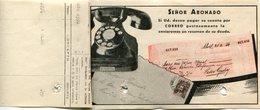 FACTURA DE LA UNION TELEFONICA AÑO 1945 BUENOS AIRES,  ARGENTINA. CON PUBLICIDAD PARA PAGAR POR CORREO - LILHU - Invoices & Commercial Documents