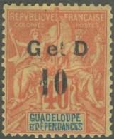 Guadeloupe 1876-1903 - N° 46a (YT) N° 46 II (AM) Neuf *. - Guadeloupe (1884-1947)