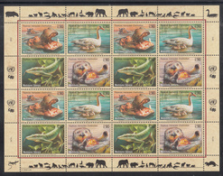 A 30 ) Free Shipping To //  UN UNO United Nations N.Y. Vienna Geneva Endangered Species MNH 3 Sheet 2000 - New York/Geneva/Vienna Joint Issues