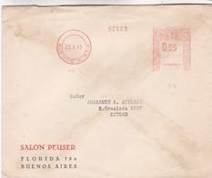 1945 COMMERCIAL COVER - SALON PEUSER CIRCULEE BUENOS AIRES FRANKING MACHINE - BLEUP - Argentine