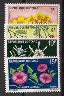 Tchad - 1969 - N°Yv. 179 à 182 - Fleurs - Neuf Luxe ** / MNH / Postfrisch - Végétaux