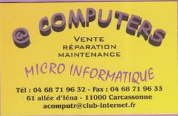 Calendrier °° 2000 - Computers Micro - 11  Carcassonne - 5,5x8,5 - Calendari