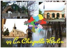 44 - LA CHAPELLE HEULIN - Multi Vues - 3 Vues + Carte Géo De La Loire-Atlantique - Cpm - Vierge - - France