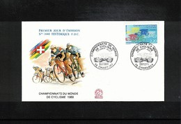 France 1989 World Cycling Championship Interesting Cover - Ciclismo