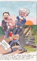 CPA Peinte à La Main Caricature Satirique Le Bloc COMBES PELLETAN HERVE Illustrateur BOBB (2 Scans) - Illustrators & Photographers