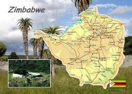 Zimbabwe Country Map New Postcard Simbabwe Landkarte AK - Simbabwe