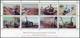 Ireland 1985 Eire Railway Preservation Society Letter Stamps TRAIN Steam Locomotive Bridge Eisenbahn Zug Chemin De Fer - Trenes