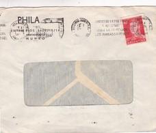 1950'S COMMERCIAL COVER - PHILA SA. CIRCULEE ARGENTINE. BANDELETA PARLANTE - BLEUP - Argentine