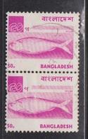 BANGLADESH Scott # 99 Used Pair - Fish - Hilsa - Bangladesh