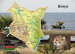 Kenya Country Map New Postcard Kenia Landkarte AK - Kenia