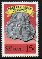 St Vincent 1987 Single 15c Stamp From The East Caribbean Currency Set. - St.Vincent (1979-...)