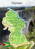 Guyana Country Map New Postcard Landkarte AK - Ansichtskarten