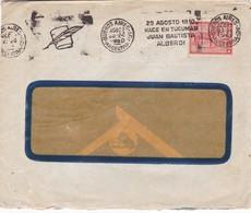 1960 COMMERCIAL COVER - CIRCULEE ARGENTINE. BANDELETA PARLANTE - BLEUP - Argentine