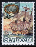 St Vincent 1981 Single 50c Stamp From The Sailing Ships Set. - St.Vincent (1979-...)