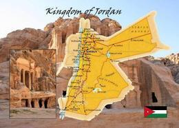 Jordan Country Map New Postcard Jordanien Landkarte AK - Giordania