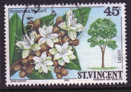 St Vincent 1984 Single 45c Stamp From The Flowering Trees And Shrubs Set. - St.Vincent (1979-...)