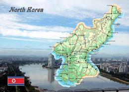 North Korea Country Map New Postcard Nordkorea Landkarte AK - Korea (Nord)