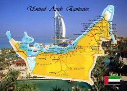 United Arab Emirates Country Map New Postcard Vereinigte Arabische Emirate Landkarte AK - Verenigde Arabische Emiraten
