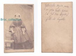 Photo Cdv De Gabrielle Seguin, Née De Laporte, Album Seguin (Buenos Aires), Circa 1875, Jeune Fille, Coiffe - Photos