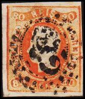 1866. Luis I. 80 REIS. (Michel 22) - JF304212 - 1853 : D.Maria