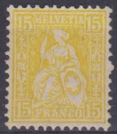 SUISSE 1881 : Le ZNr 18, Neuf (*) - 1862-1881 Zittende Helvetia (getande)