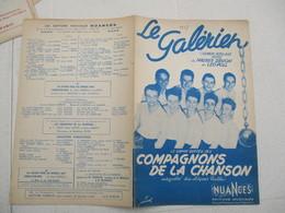 LE GALERIEN CHANSON POPULAIRE RUSSE DE MAURICE DRUON ET LEO POLL LE GRAND SUCCES DES COMPAGNONS DE LA CHANSON 1947 - Spartiti