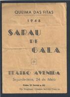 Queima Das Fitas Da Universidade De Coimbra De 1948. Sarau De Gala No Teatro Avenida, Coimbra. 2 Sc. - Historical Documents