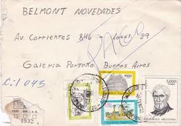 1982 COVER ENVELOPE - CIRCULEE CORDOBA TO BUENOS AIRES, RECOMMANDE - BLEUP - Lettres & Documents