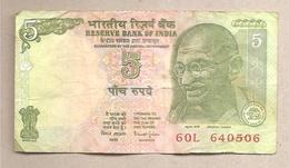 India - Banconota Circolata Da 5 Rupie P-88Aa - 2002 - India