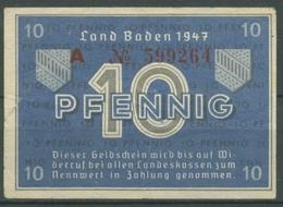 Französische Zone Baden 10 Pfennig 1947, Ro 209 D, Gebraucht (M15) - [ 5] 1945-1949 : Allies Occupation