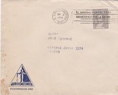1947 COMMERCIAL COVER - ALBRONCIN. CIRCULEE BUENOS AIRES, BANDELETA PARLANTE - BLEUP - Argentine