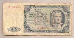 Polonia - Banconota Circolata Da 20 Zloty P-137a.4 - 1948 - Pologne