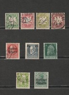 Lot 9 Timbres Bayern - 1911 Mi DE-BY 77 I - 1916Mi DE-BY 111A - 1919 Mi DE-BY 138 Et 156 - 1920 Mi DE-BY 178 - - Bavaria