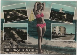 Saluti Dal Lido Degli Scacchi (Comacchio, Ferrara). Viaggiata 1960 - Souvenir De...