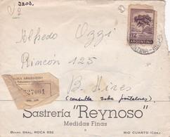 1940'S COMMERCIAL COVER - SASTRERIA REYNOSO. CIRCULEE CORDOBA TO BUENOS AIRES. RECOMMANDE - BLEUP - Argentine