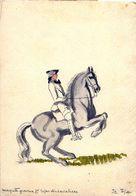 Dessin Format Cpm Gravure Pour Repas Cavaliers, Cachet 3 Geprüft Oflag 10 - HOHENSALZA MONTWY - INOWROCLAW MATWY Pologne - Guerre 1939-45