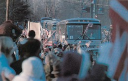 WEST POINT, New York, 1940-60s; Welcoming Throngs Line The Highways As Buses Bearing The Hostages - Other