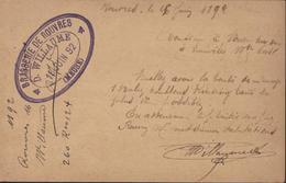 Thématique Bière Entier Sage 10c CAD Etain Meuse 16 Juin 1892 Houblon Brasserie De Rouvres Meuse - Entiers Postaux