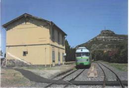 469 ARST ADe 13 Fiat TIBB Bosa Marina Vecchia Oristano Rairoad Treain Railweys Treni - Trains